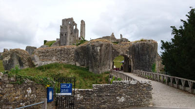 Entrance to a ruined castle